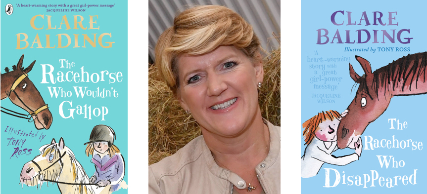 Clare Balding and book covers